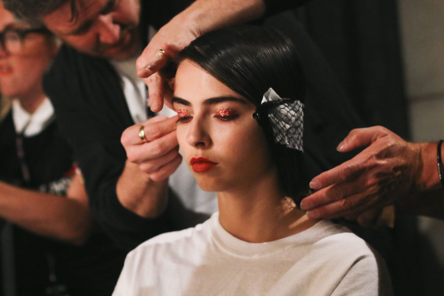 Multitasking with Lipstick | Backstage at Melbourne Fashion Week